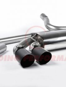 Milltek Sport Downpipe-back - Audi Coupe UR quattro 10v Turbo, Non-resonated (louder), Cerakote Black OEM-Style Tips [MCXAU103]