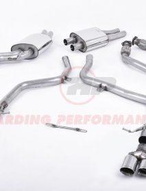 Milltek Sport Cat-back - Audi S5 3.0TFSI quattro S tronic B8 Race Version, Quad Polished Tips [SSXAU265]