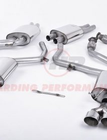 Milltek Sport Cat-back - Audi S4 3.0 TFSI B8.5, Quad Outlet Polished Tips [SSXAU366]