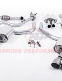 Milltek Sport Cat-back - Audi S4 B9, Saloon/Sedan (Non Sport Diff Cars), Resonated, Quad GT-100 Titanium Trims [SSXAU642]