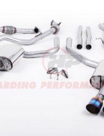 Milltek Sport Cat-back - Audi S4 B9, Saloon/Sedan (Non Sport Diff Cars), Non-Resonated (Louder), Quad GT-100 Burnt Titanium Trims [SSXAU653]