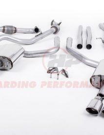 Milltek Sport Cat-back - Audi S4 B9, Saloon/Sedan (Non Sport Diff Cars), Non-Resonated (Louder), Quad Polished Oval Trims [SSXAU659]