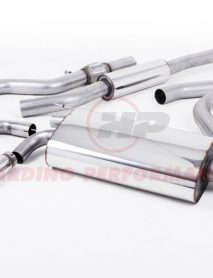 Milltek Sport Cat-back - BMW 4 Series F32 428i OE-style twin-outlet Resonated (quieter) Polished tips [SSXBM1000]