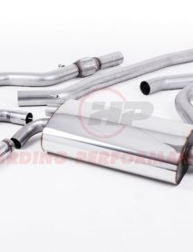 Milltek Sport Cat-back - BMW 4 Series F32 428i OE-style twin-outlet Non-resonated (louder) Polished tips [SSXBM1002]
