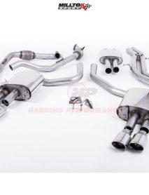 Milltek Sport Cat-back - S4 B9 (Sport Diff Models Only), Resonated, Quad Polished Oval Trims EC Approved [SSXAU698]