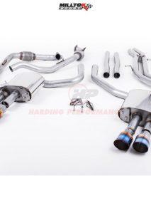 Milltek Sport Cat-back - S4 B9 (Sport Diff Models Only), Non-Resonated (Louder), Quad GT-100 Burnt Titanium Trims [SSXAU703]