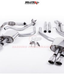 Milltek Sport Cat-back - S4 B9 (Sport Diff Models Only), Non-Resonated (Louder), Quad Polished Oval Trims [SSXAU704]