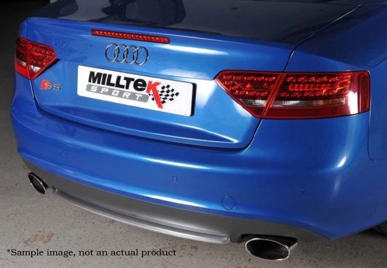 Milltek Sport Cat-back - S5 Coupe B9 (Sport Diff Models Only), Non  Resonated, Quad GT-100 Polished Trims [SSXAU711]